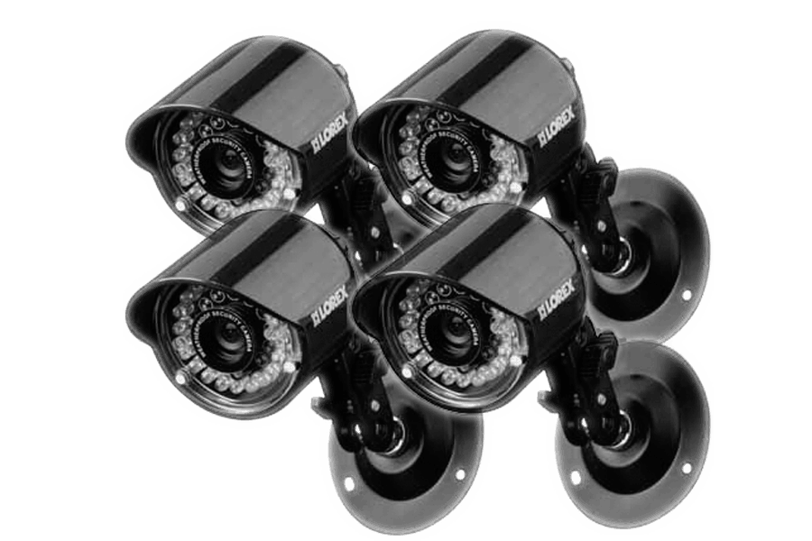 Security and surveillance cameras with touch monitor