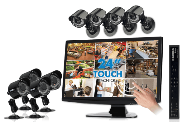 Security and surveillance cameras with touch monitor Edge+ series
