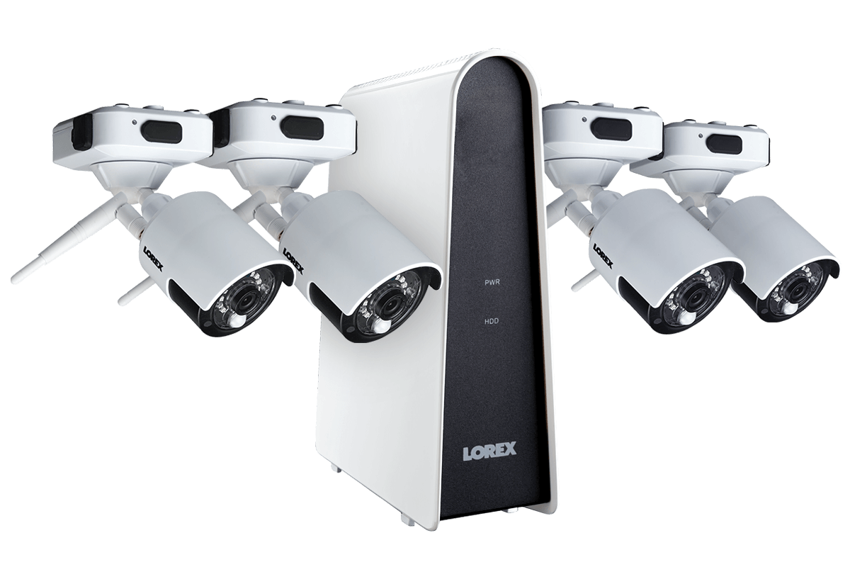 Wire Free Security Camera System With 4 Cameras
