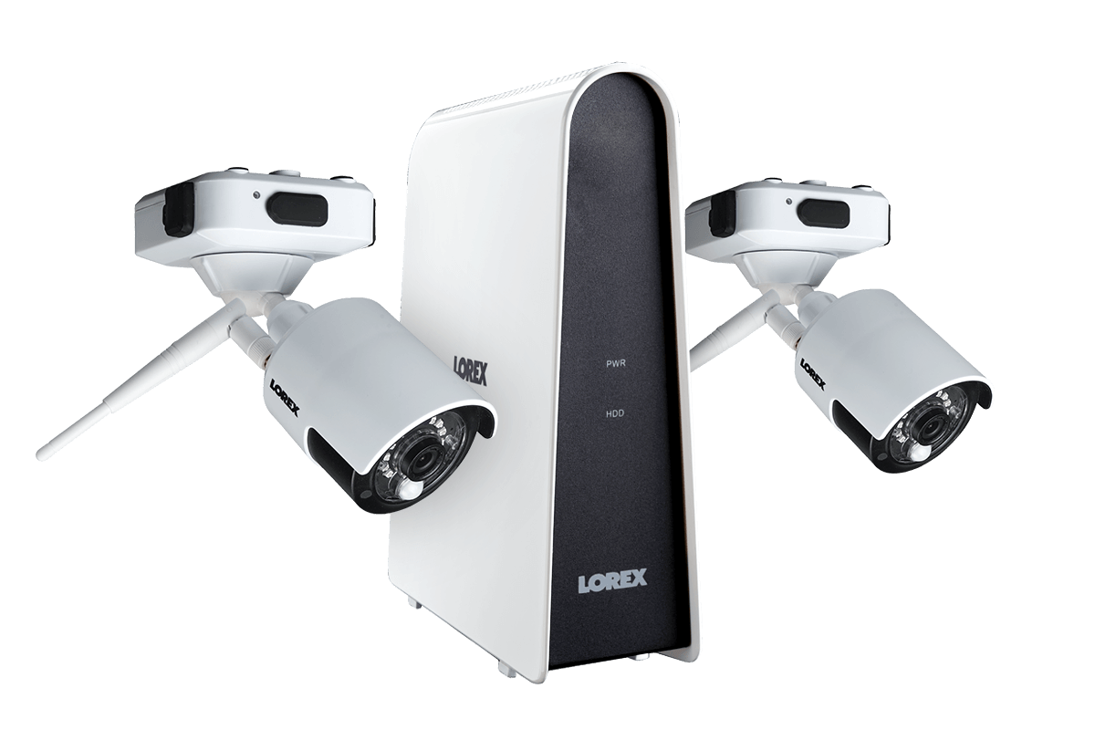 Wire Free Security Camera System With 2 Cameras Lorex