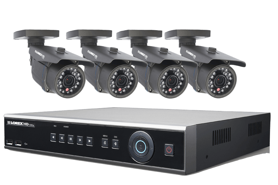 HD Security Camera System with 4 High Definition Cameras