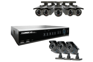 8 channel HD DVR with 1080p high definition security cameras