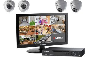 720p HD system with monitor with 4 cameras