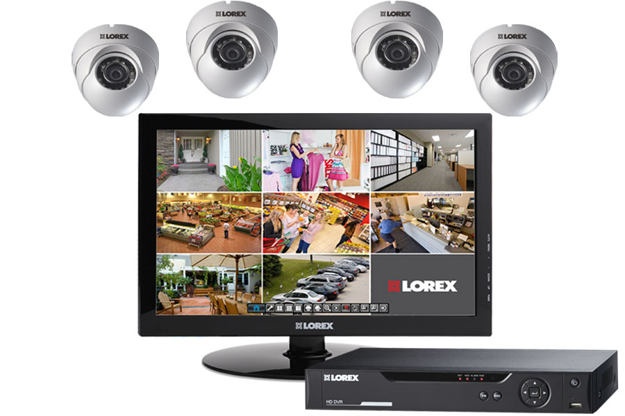 HD surveillance camera system with 4 cameras
