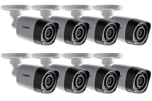 High Definition surveillance camera system with 24