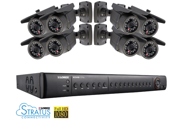 Lorex 8 Channel HD SDI Security System with 2TB HDD and 8 1080p Cameras - LHD2082001C8B