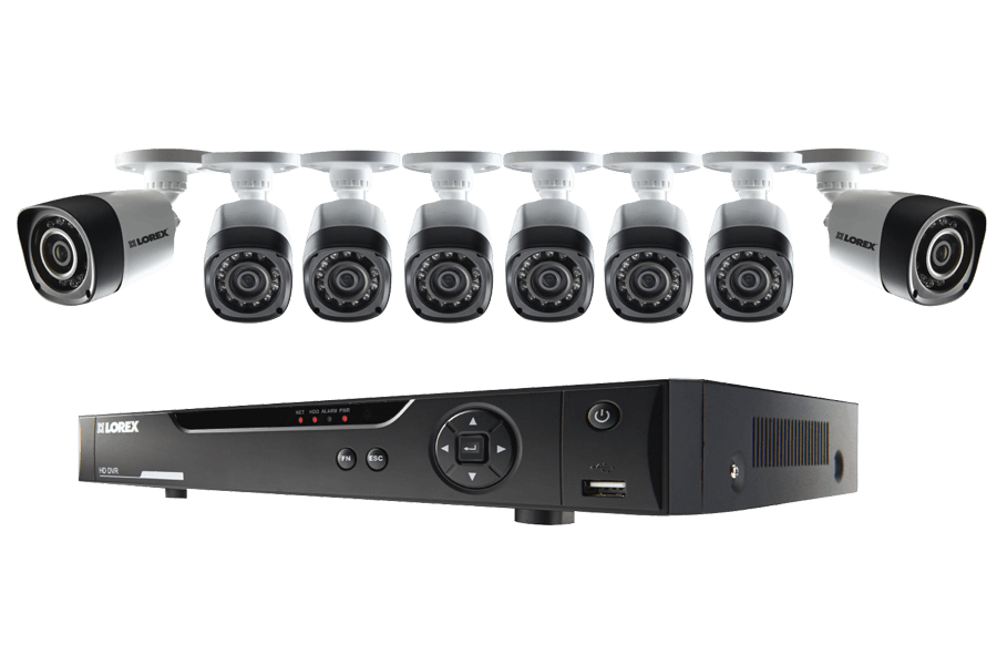 8 Channel Series Security DVR system with 720p HD Cameras | Lorex