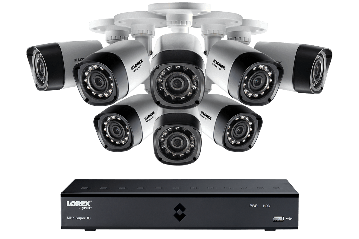 HD 1080P Camera System with 8 Cameras and 1TB Hard Drive