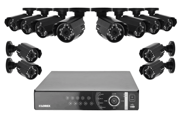 DVR camera system with 4 outdoor security cameras with night vision