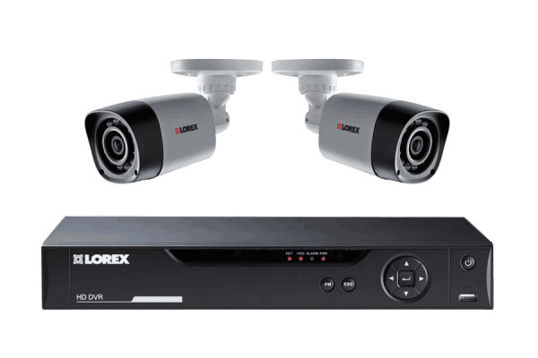 HD surveillance camera system with 2 cameras