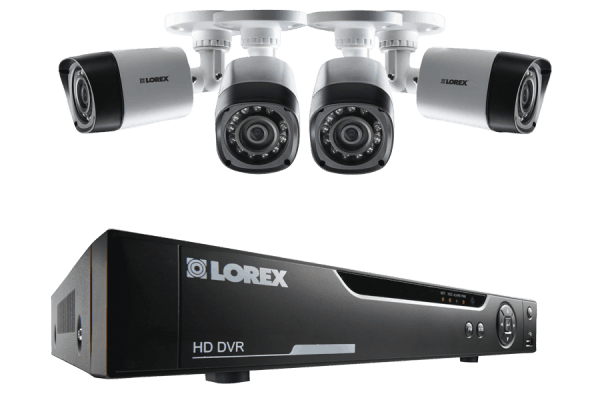 HD 720p Security System with 4 HD Cameras