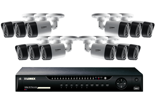 16 Channel Series Security DVR system with 1080p HD Cameras