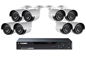 Security HD DVR System with 1080p Cameras & FLIR Secure Connectivity