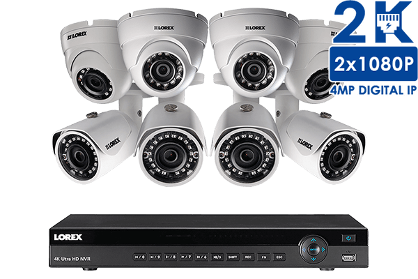 2K IP Security Camera System with 16 Channel NVR and 8 HD IP ...