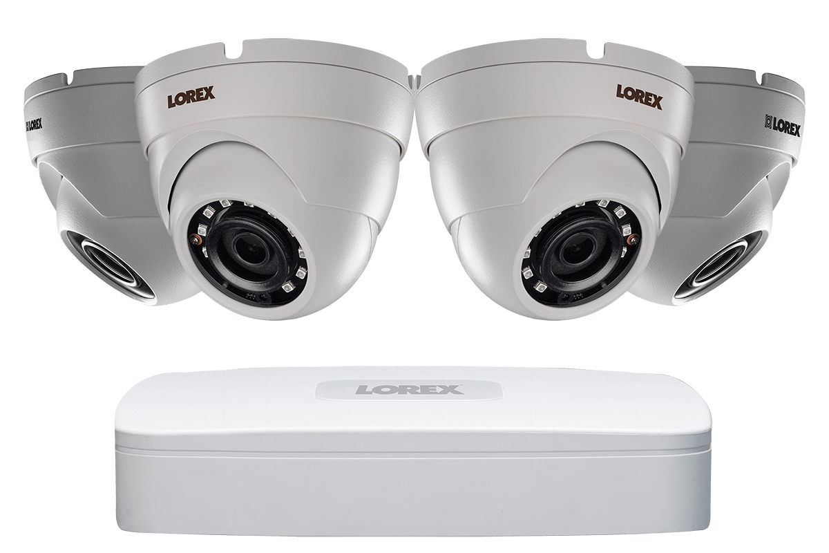 2K IP Security Camera System with 8 Channel NVR and 4 x 4MP