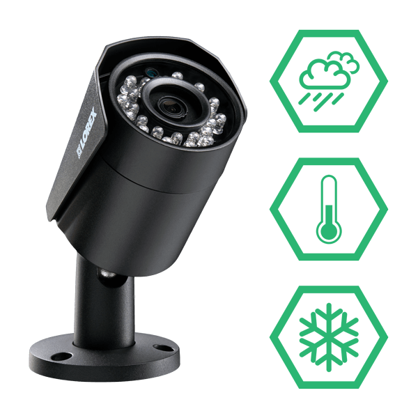 Fully weatherproof pan-tilt security cameras