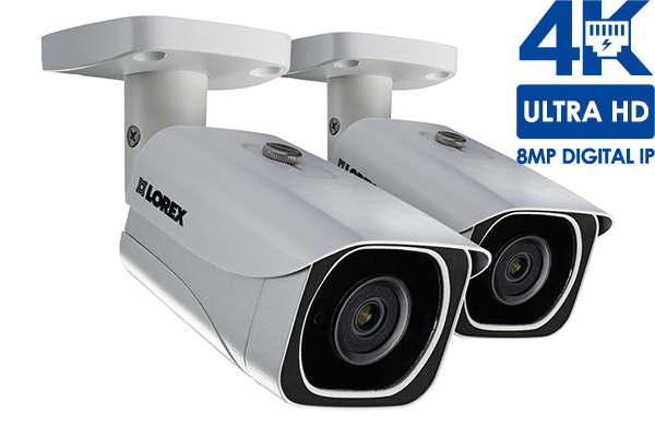 4K Ultra HD resolution 8MP Outdoor IP camera, 130FT Night vision ...