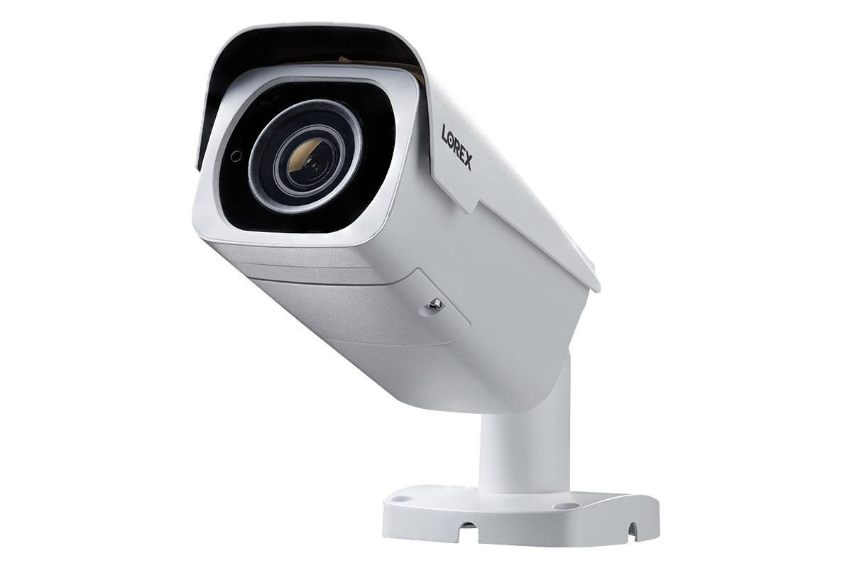 4K Ultra HD Resolution 8MP Motorized Varifocal Outdoor 4x Optical Zoom IP  Camera, 250ft Night Vision (White)
