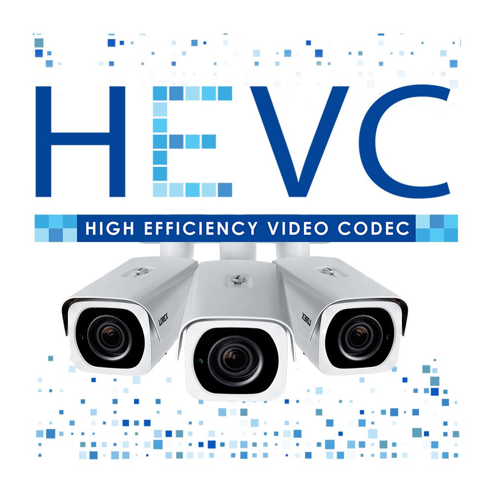 HEVC logo H.265 security camera model LNB8963