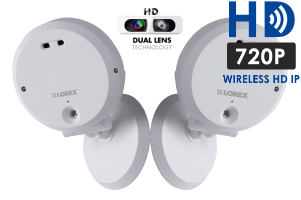 HD 720p Wireless IP Camera with Remote Viewing (2-Pack)