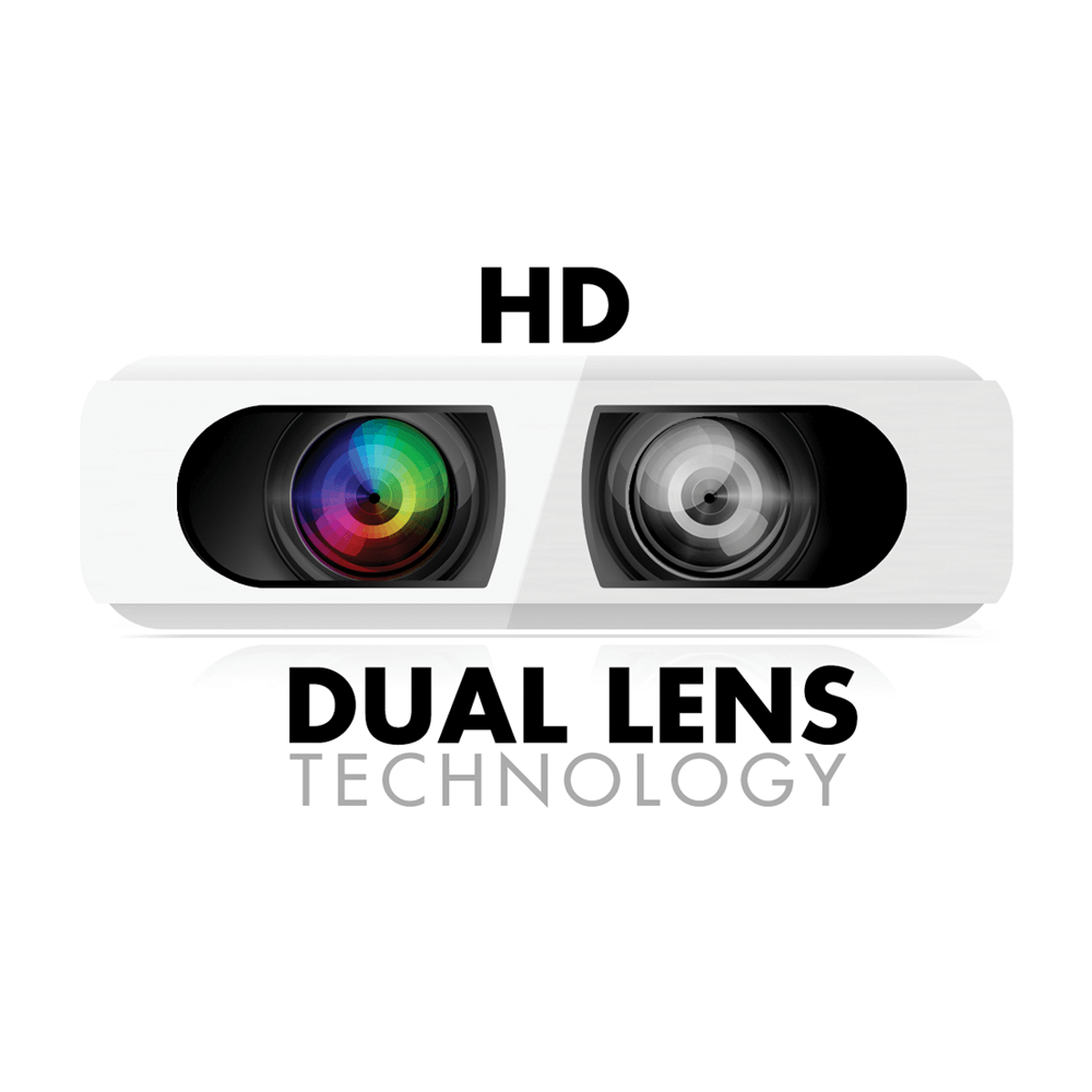 Dual Lens day and night security footage