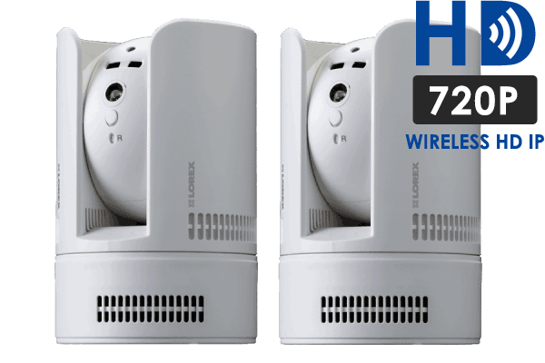 HD 720p Wireless IP Camera with Pan-Tilt (2-Pack)