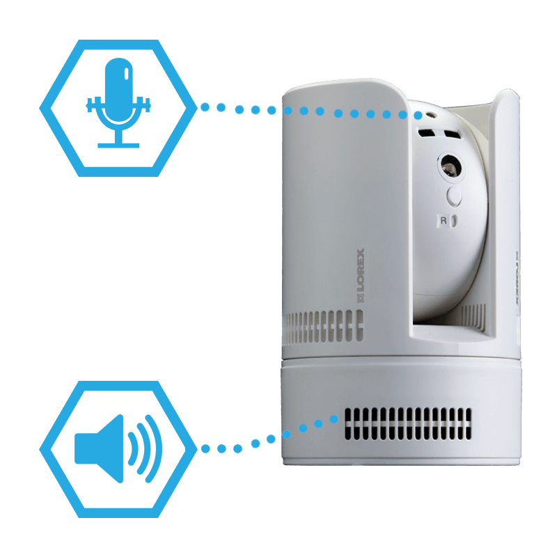 wifi camera with 2-way intercom audio
