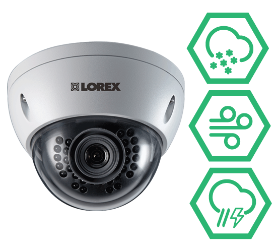 dome HD IP security camera IP66 weatherproof rating