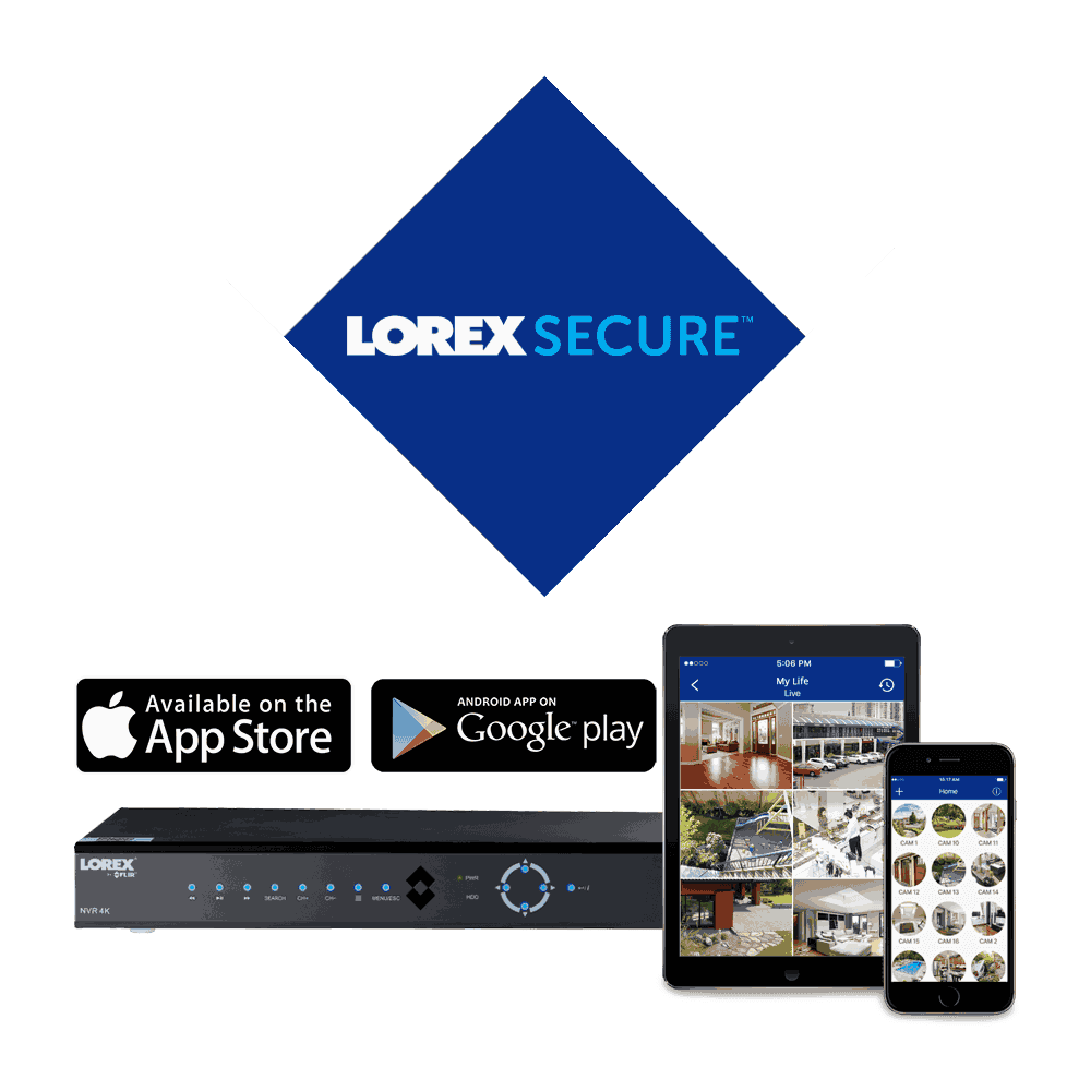 Securely view and manage your HD security system with Lorex Cloud connectivity