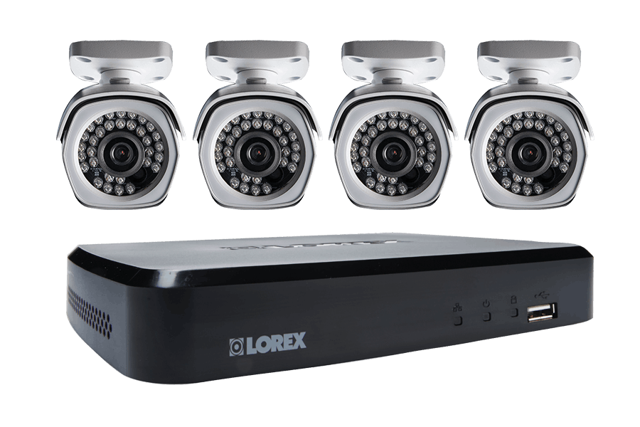 4-Channel HD Security NVR with Weatherproof HD IP Cameras