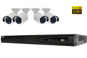 Security NVR system with 1080p high definition IP cameras
