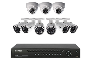 Weatherproof HD IP Camera system with 16-Channel HD NVR