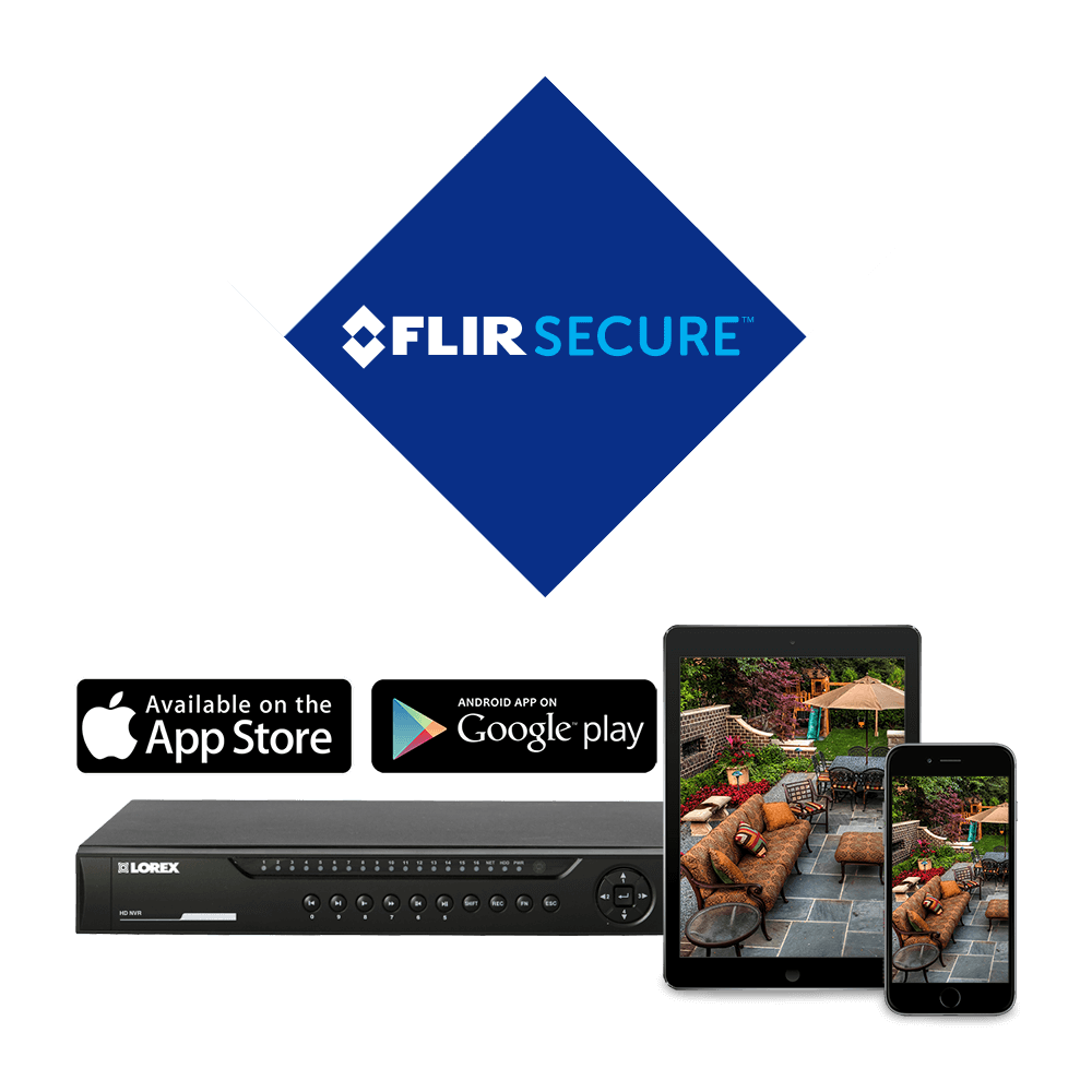 FLIR Secure app keeps you connected to your security system through your smart phone