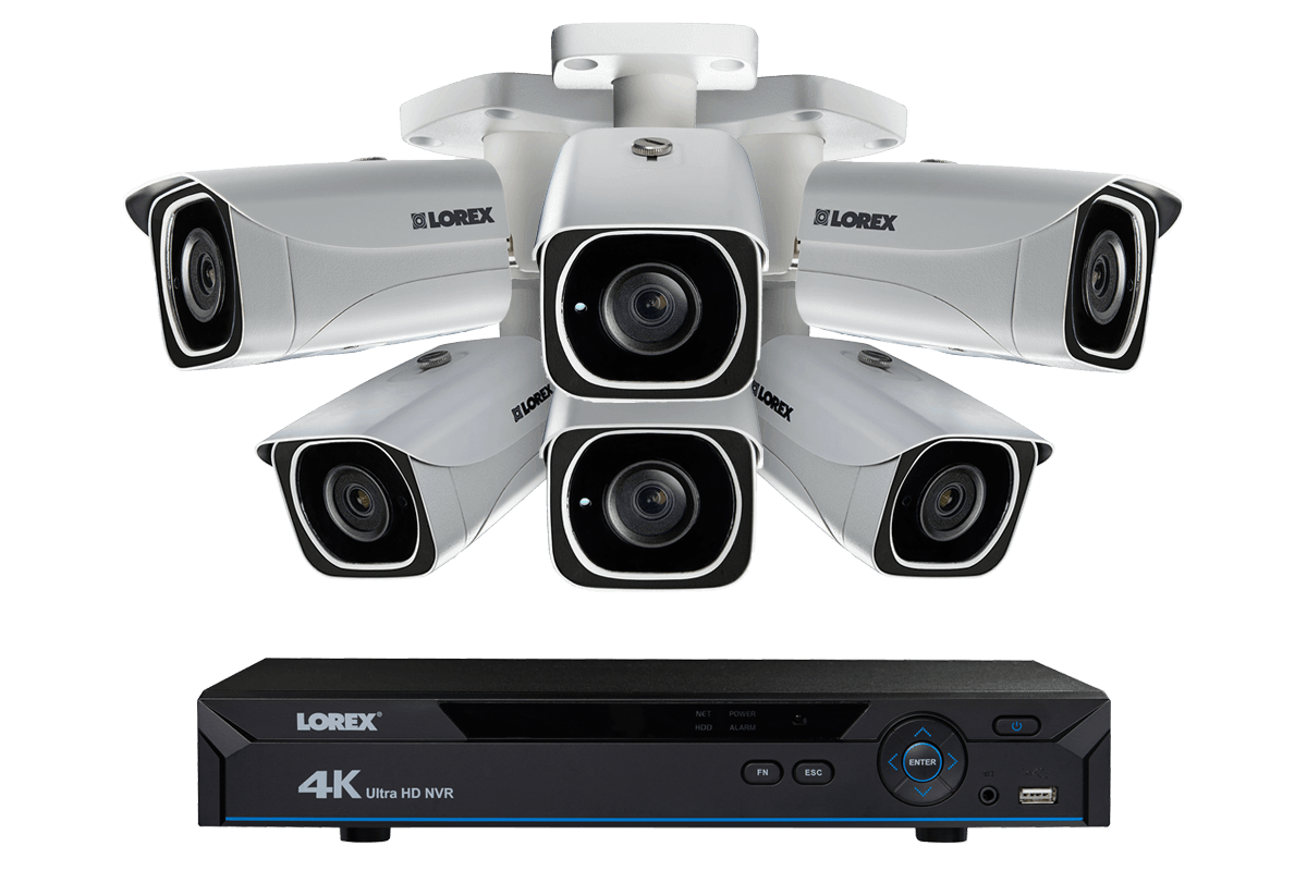 4k Ip Camera System With 6 Ultra Hd 4k Metal Cameras 130ft Color