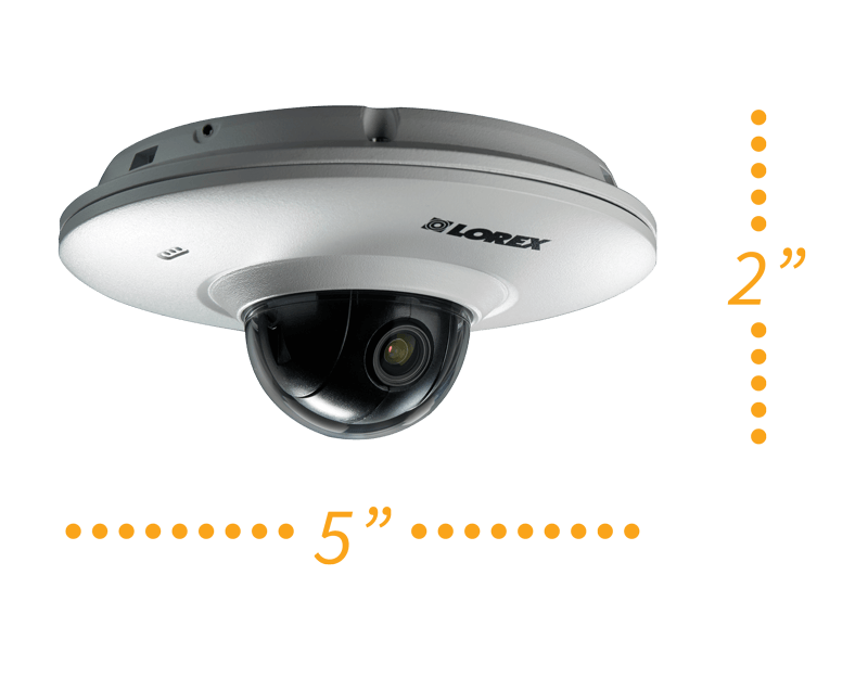 Small pan-tilt security camera