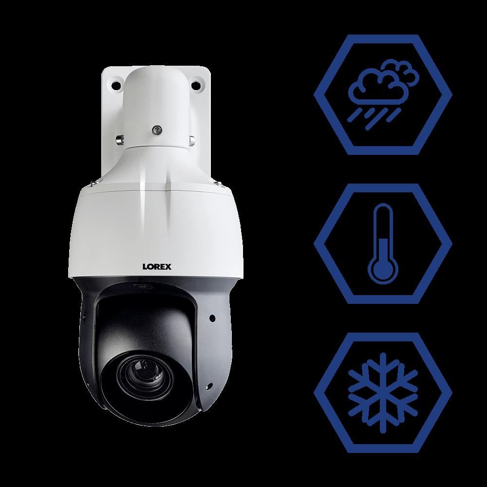 weatherproof PTZ security camera