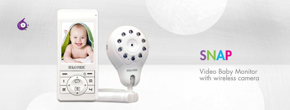 Digital video baby monitor with camera