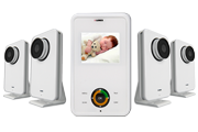 1-Video infant monitor with 4 cameras
