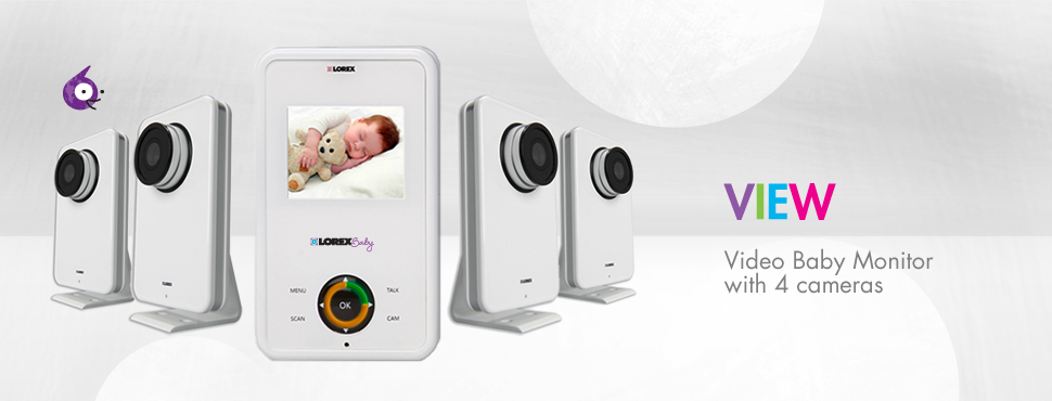1 Video infant monitor with 4 cameras