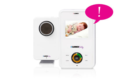 Baby camera with audio-enabled alerts
