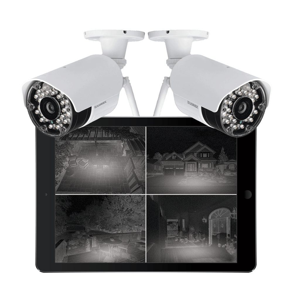 Wireless security cameras with night vision Black Firday sale with Lorex