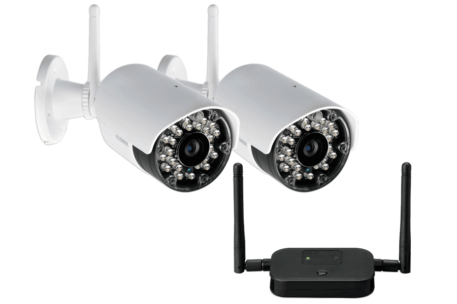 Wireless security cameras with dual receiver