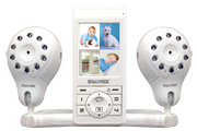 Baby monitor with audio and 2 cameras