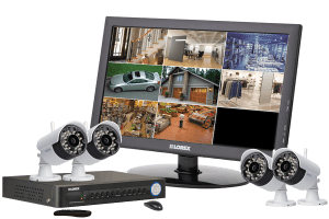 Wireless security system with 4 wireless cameras