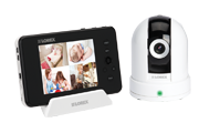 Pan tilt baby camera with monitor