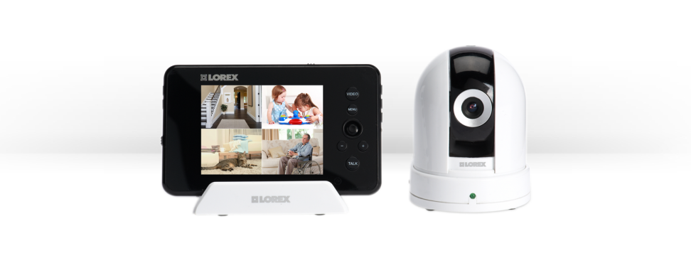 Wireless baby monitor with PTZ camera and 3.5inch monitor
