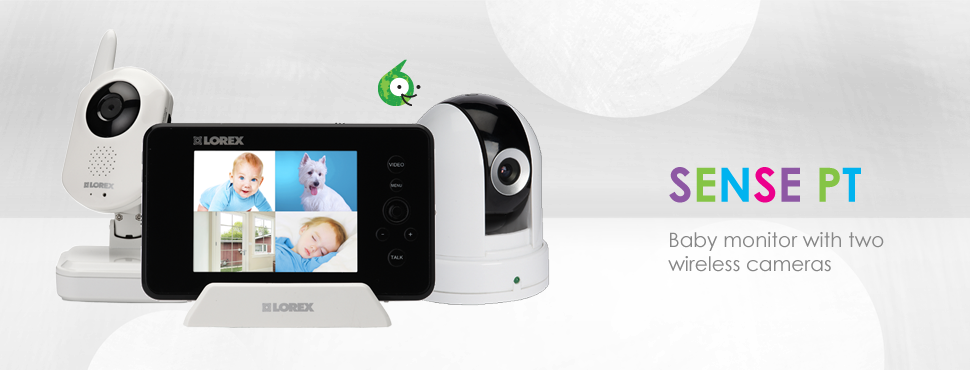 Baby video cameras with monitor, PT camera