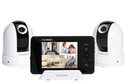 Pan-tilt baby video cameras with monitor