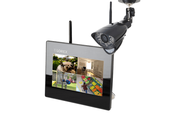 Home camera system with outdoor wireless camera