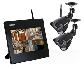 Expandable wireless home monitoring system from Lorex with two cameras